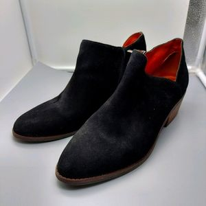 Lucky brand suede black booties Size 9